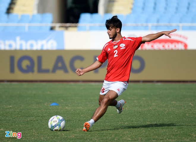 U23 Oman 1-1 U23 Palestine: Tien ve nhan the do ngay sau khi ghi ban hinh anh 3
