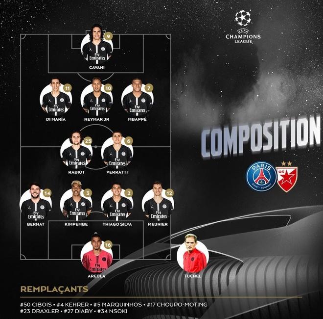 PSG 6-1 Crvena Zvezda: Neymar lap hat-trick hinh anh 4