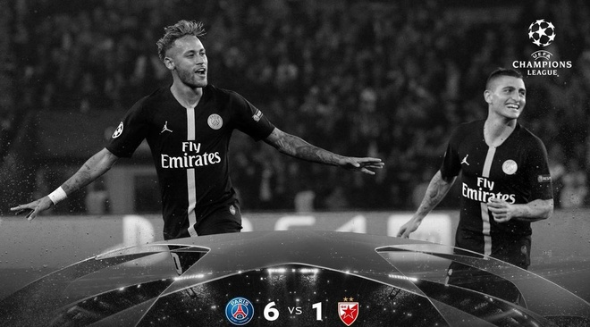 PSG 6-1 Crvena Zvezda: Neymar lap hat-trick hinh anh 13
