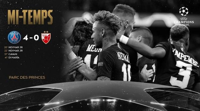 PSG 6-1 Crvena Zvezda: Neymar lap hat-trick hinh anh 9