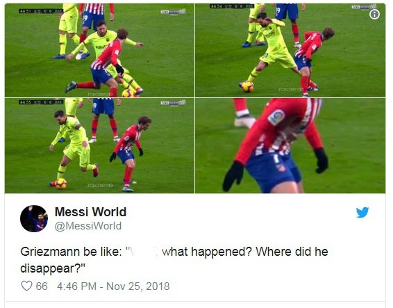 Khoanh khac Messi khien Griezmann xau ho gay chu y tren mang xa hoi hinh anh 3
