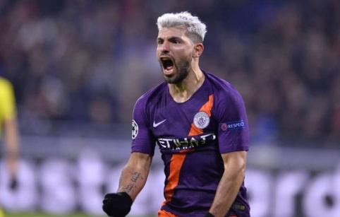 Hoa Lyon 2-2, Man City vao vong 1/8 Champions League som 1 luot tran hinh anh