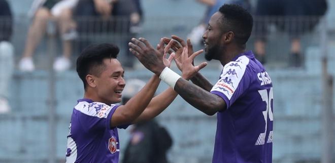CLB Ha Noi 1-0 Binh Duong: Hoang Vu Samson lap cu dup hinh anh
