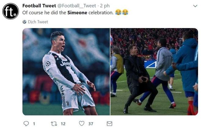 Ronaldo an mung che nhao HLV Simeone sau khi lap hat-trick hinh anh 4