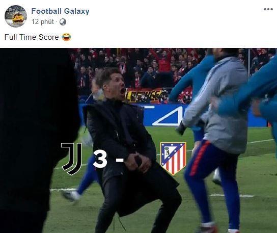 Ronaldo an mung che nhao HLV Simeone sau khi lap hat-trick hinh anh 6