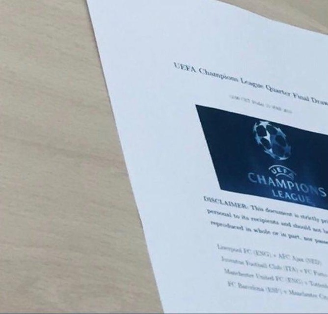 'Ket qua boc tham' tu ket Champions League lan truyen tren MXH hinh anh 1