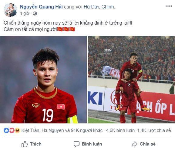 Quang Hai cung dong doi ngat ngay sau tran thang lich su hinh anh 1