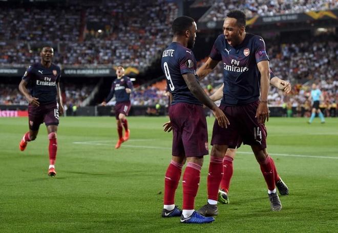 Aubameyang lap hat-trick dua Arsenal vao chung ket Europa League hinh anh 24