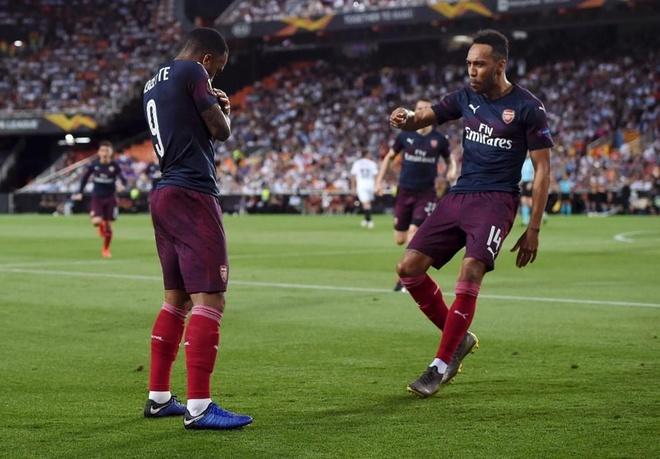 Aubameyang lap hat-trick dua Arsenal vao chung ket Europa League hinh anh 15