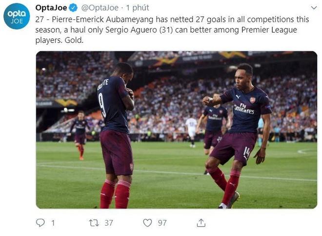 Aubameyang lap hat-trick dua Arsenal vao chung ket Europa League hinh anh 16