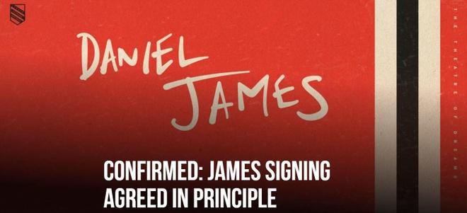 Man Utd chiêu mộ thành công Daniel James