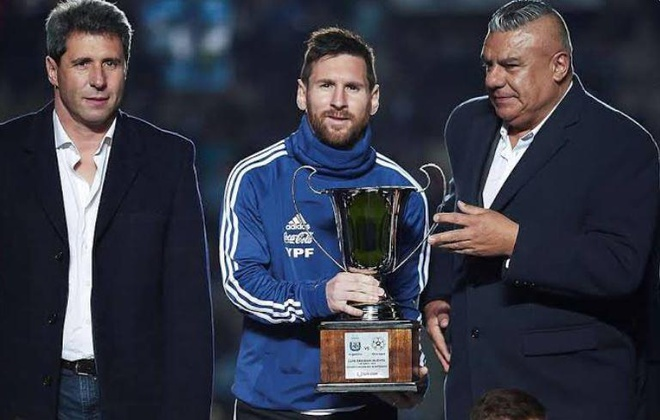 Messi co danh hieu cung Argentina anh 1