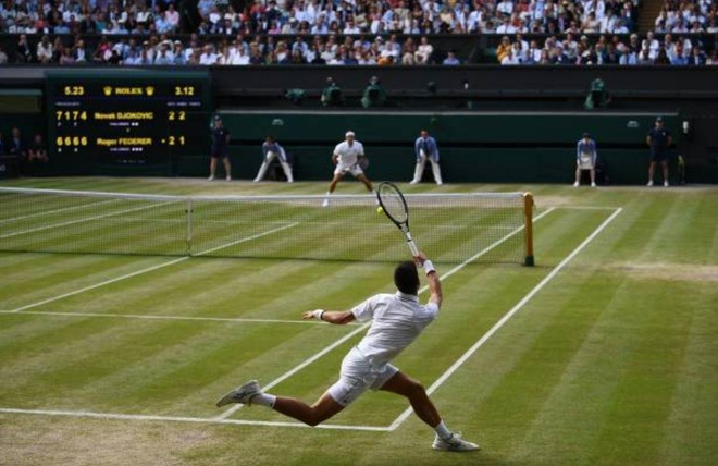 Roger Federer,  Novak Djokovic,  chung ket Wimbledon,  tuong thuat truc tiep anh 64