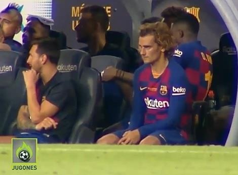 Messi khong qua nong nhiet voi Griezmann o tran tranh cup Joan Gamper hinh anh 1