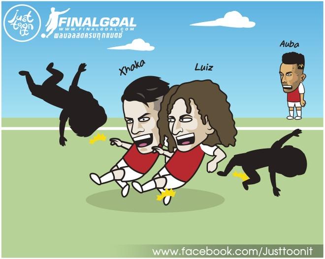 Hi hoa Lampard cu Luiz lam gian diep de pha Arsenal hinh anh 8
