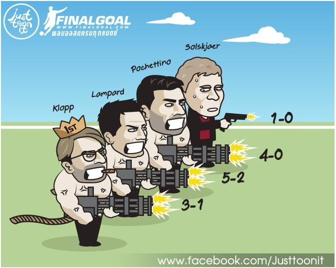 Hí họa Lampard cử Luiz làm gián điệp để phá Arsenal