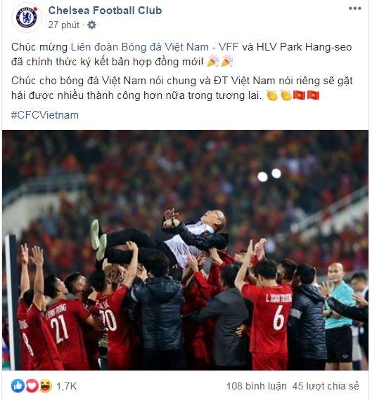 Chelsea chuc mung thay Park gia han hop dong hinh anh 1