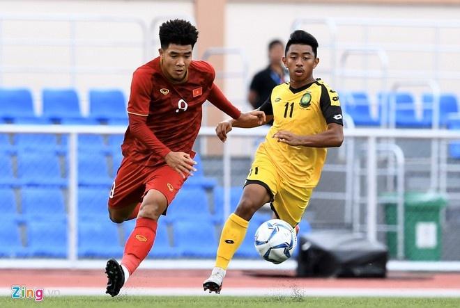Tien Linh lap hat-trick giup U22 Viet Nam thang Lao 6-1 hinh anh 4