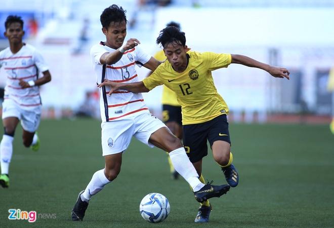U22 Campuchia 3-1 Malaysia: Dau cham het cho 'Nhung chu ho' hinh anh 8