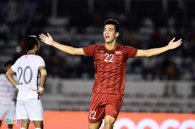 Ha Campuchia 4-0, U22 Viet Nam vao chung ket SEA Games hinh anh 1