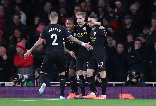 Arsenal 0-3 Man City: Khong the can De Bruyne hinh anh 12 2019-12-15T163459Z_1817915933_RC2SVD9418PE_RTRMADP_3_SOCCER-ENGLAND-ARS-MCI-REPORT.JPG