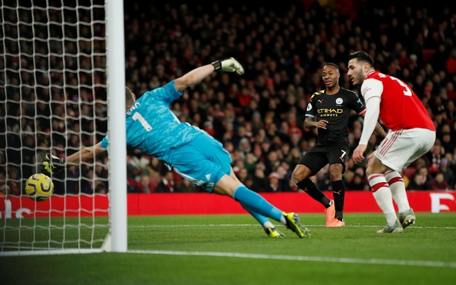 Arsenal 0-3 Man City: Khong the can De Bruyne hinh anh 15 2019-12-15T164716Z_266142182_RC2SVD9LEDM6_RTRMADP_3_SOCCER-ENGLAND-ARS-MCI-REPORT.JPG