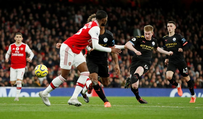 Arsenal 0-3 Man City: Khong the can De Bruyne hinh anh 17 2019-12-15T171119Z_181986956_RC2TVD9TIDNM_RTRMADP_3_SOCCER-ENGLAND-ARS-MCI-REPORT.JPG
