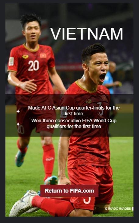 Tuyen Viet Nam duoc FIFA vinh danh