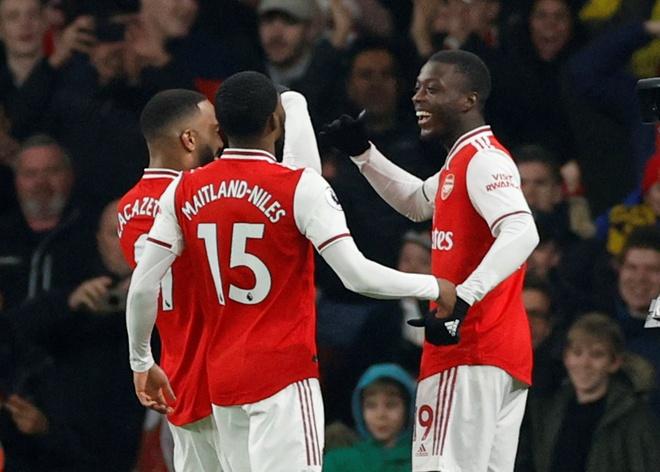 Arsenal thang Man Utd 2-0 tai Emirates hinh anh 11 2020_01_01T201008Z_1245319671_RC287E9XWZFX_RTRMADP_3_SOCCER_ENGLAND_ARS_MUN_REPORT.JPG