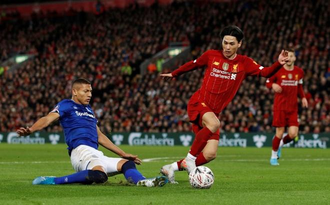 Liverpool vao vong 4 FA Cup trong ngay Minamino da chinh hinh anh 15 2020_01_05T162909Z_1887212536_RC2S9E94SHC7_RTRMADP_3_SOCCER_ENGLAND_LIV_EVE_REPORT.JPG