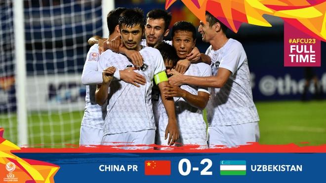 Thua Uzbekistan 0-2, U23 Trung Quoc bi loai khoi giai chau A hinh anh 16 EOFv66dU0AEl3oc.jpg