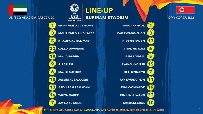 Truc tiep U23 UAE vs Trieu Tien anh 2