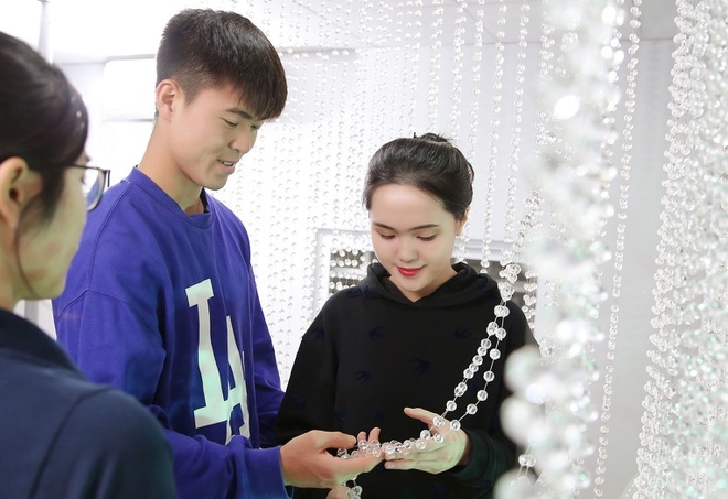 Dam cuoi Duy Manh Quynh Anh anh 1