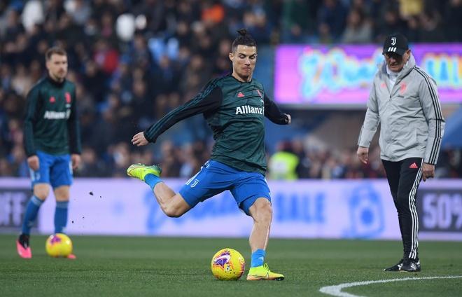 Ronaldo toa sang, Juventus xay chac ngoi dau Serie A hinh anh 6 2020_02_22T165219Z_1894153703_RC2S5F9EPGRH_RTRMADP_3_SOCCER_ITALY_SPA_JUV_REPORT.JPG