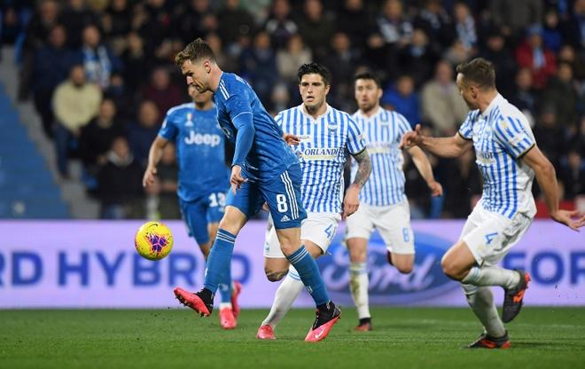 Ronaldo toa sang, Juventus xay chac ngoi dau Serie A hinh anh 14 2020_02_22T182329Z_57164526_RC2U5F90UWTL_RTRMADP_3_SOCCER_ITALY_SPA_JUV_REPORT.JPG