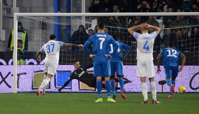 Ronaldo toa sang, Juventus xay chac ngoi dau Serie A hinh anh 16 2020_02_22T183253Z_433548272_RC2U5F95U6C2_RTRMADP_3_SOCCER_ITALY_SPA_JUV_REPORT.JPG