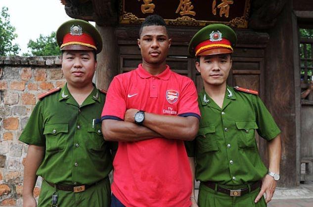 Gnabry va dan sao Arsenal den Viet Nam nam 2013 hinh anh 7 gna.JPG