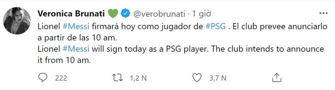 PSG cong bo Messi anh 1