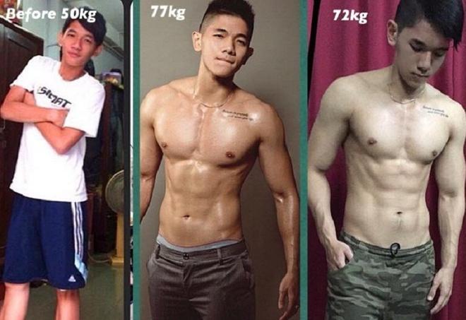 Thuc don va lich tap cua 9X tang 23 kg, co bung 6 mui hinh anh 1
