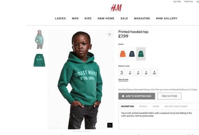 H&M xin loi vi quang cao san pham mang thong diep phan cam hinh anh