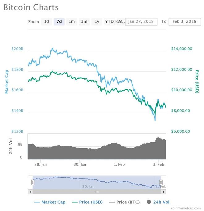 Bitcoin xuong nguong 7.000 USD, thi truong tien ao bay hoi 100 ty USD hinh anh 2