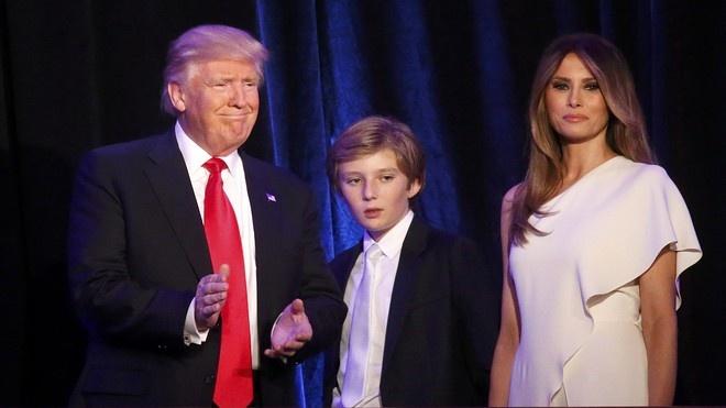Barron Trump,  Donald Trump,  tong thong My anh 1