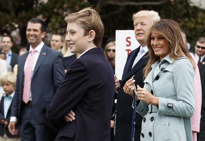 Barron Trump,  Donald Trump,  tong thong My anh 2