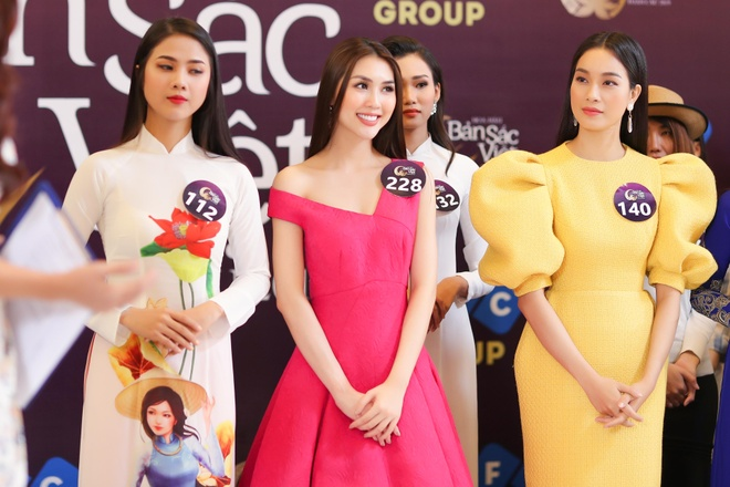 Kiko Chan, Tuong Linh noi bat o buoi casting Hoa hau Ban sac Viet hinh anh