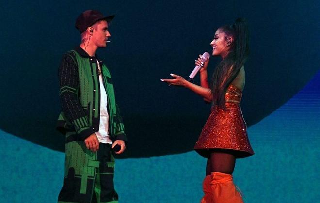 Ariana Grande giai thich Justin Bieber hat nhep anh 2