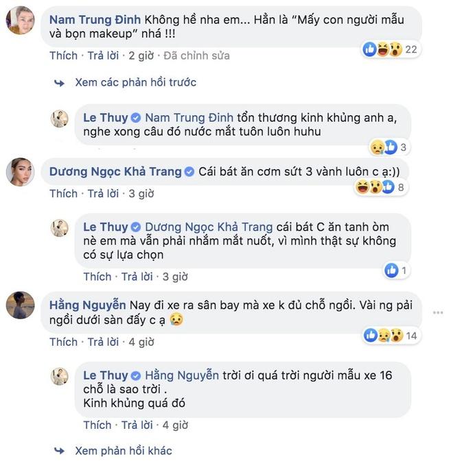 Le Thuy to BTC show thoi trang cho nguoi mau an com nguoi, doi xu te hinh anh 2