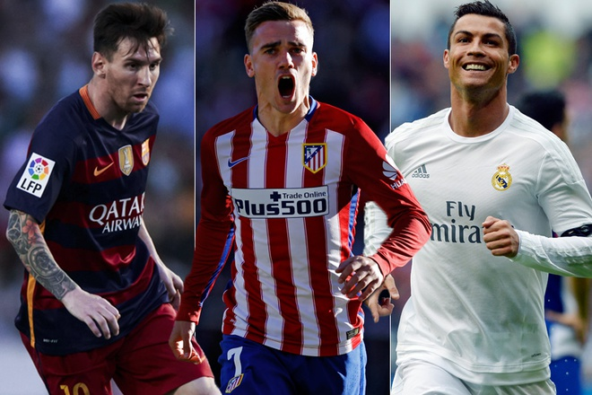 Griezmann muon dat den dang cap cua Ronaldo va Messi hinh anh