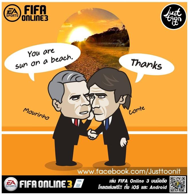 Hi hoa Conte cung Chelsea dap vo xe bus cua Mourinho hinh anh 3