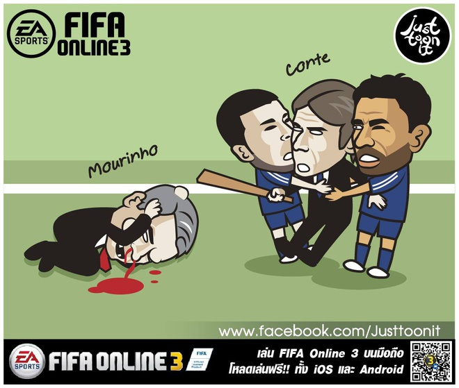 Hi hoa Conte cung Chelsea dap vo xe bus cua Mourinho hinh anh 2