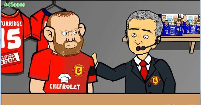 Hoat hinh vui Mourinho ban Rooney voi hai goi tuong ca chua hinh anh